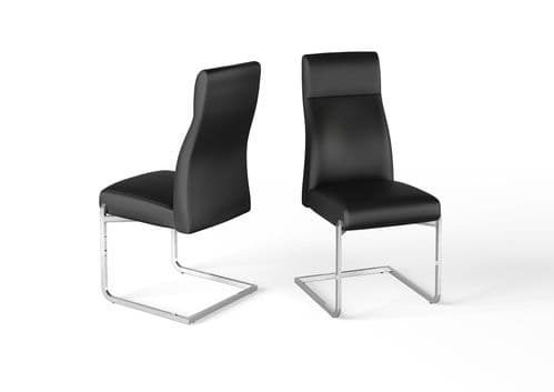 Don Black Leather Look Dining Chair