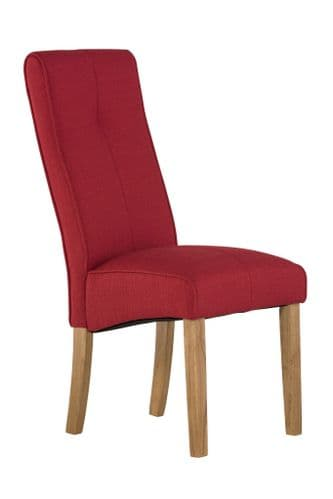 Dover Red Fabric Dining Chair