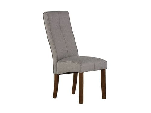 Dover Silver Grey Fabric Dining Chair