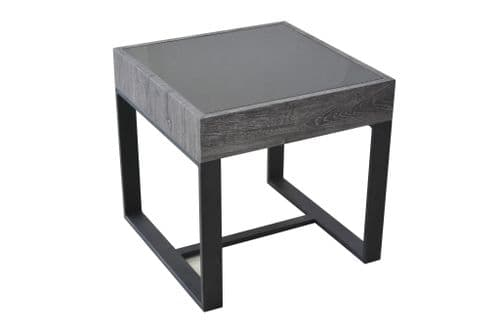 Ellison Rectangular Black Glass Side Table