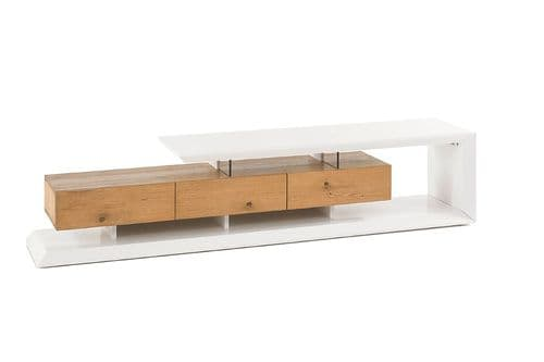 Emily 198cm White And Oak TV Stand