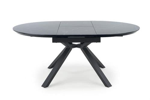 Erty 130cm Round Black Marble Dining Table