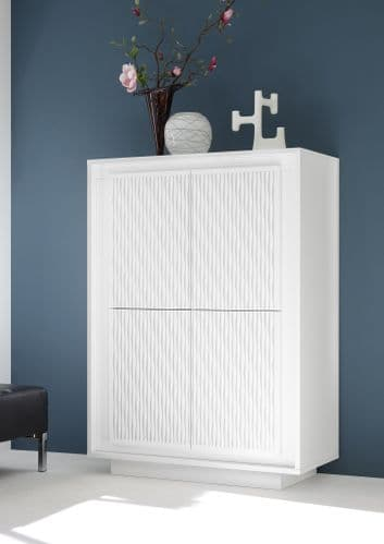 Evelyn 4-Door High Sideboard Striped Stencil Home Furniture