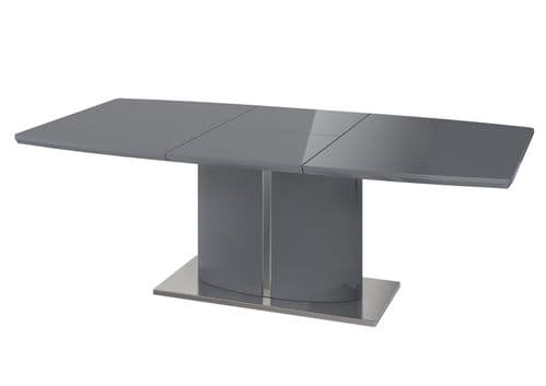 Favell 160-220cm Grey Gloss Extending Dining Table