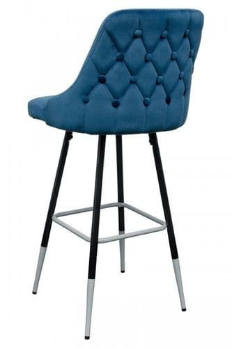 FiFi Posh Blue Button Back Bar Stool