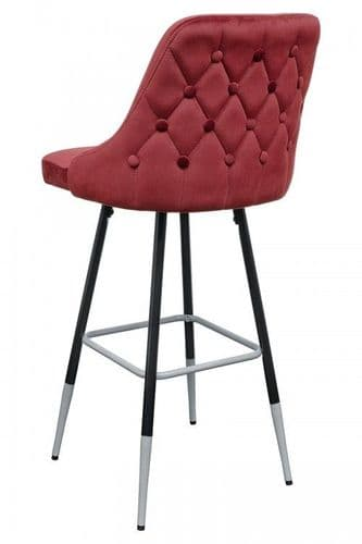 FiFi Posh Red Button Back Bar Stool