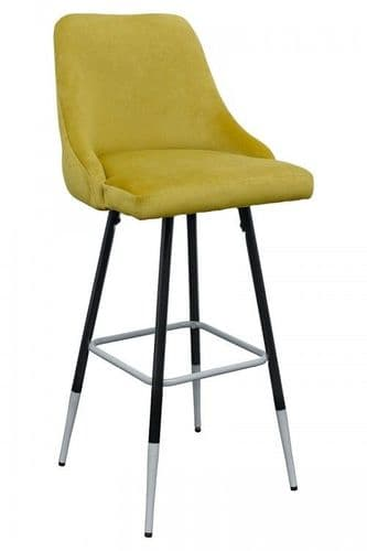 FiFi Posh Yellow Button Back Bar Stool