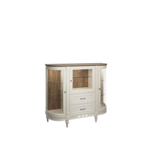 Florence 135cm Vanilla Cream Display  Sideboard With Drawers