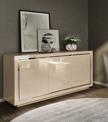 Floris Cream High Gloss Sideboard 155cm