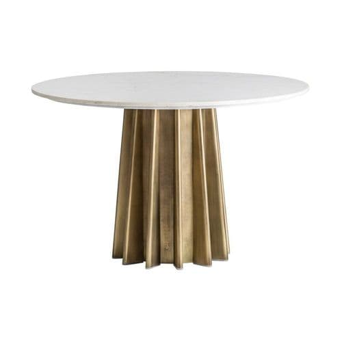 Francine Art Deco Round Dining Table