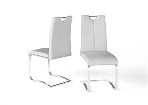 Gabrielle White Leather Look Dining Chair