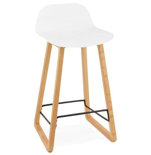 Geko White Bar Stool
