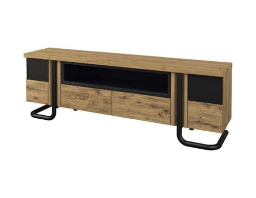 Graham 197cm Solid Wood Ready Assembled Tall TV Stand