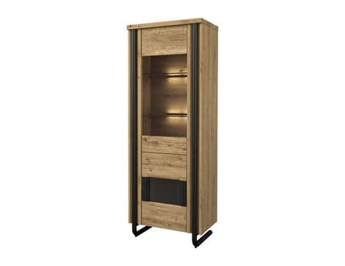 Graham Single Solid Wood Ready Assembled Display Cabinet