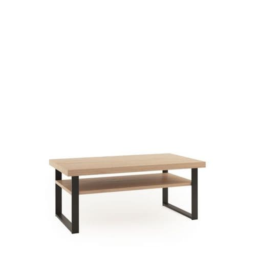 Grantham 120cm Oak And Black Coffee Table