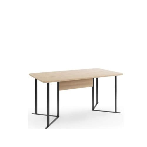 Grantham 160cm Oak And Black Dining Table