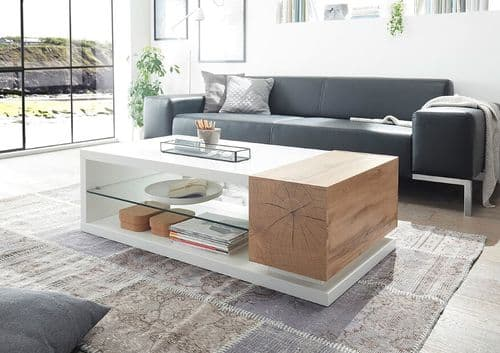Hallam White And Oak Coffee Table
