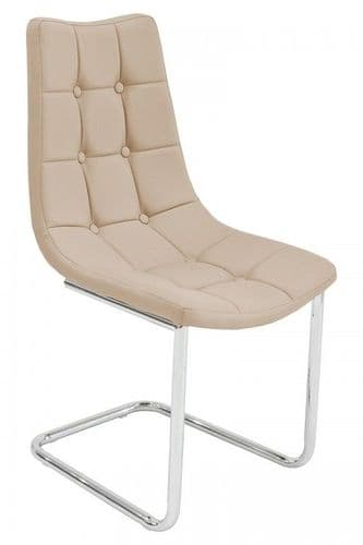 Hallon Cream Beige Dining Chair