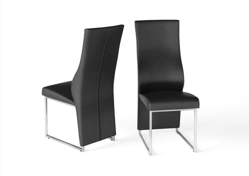 Imperial High Back Black Leather Look Dining Chair