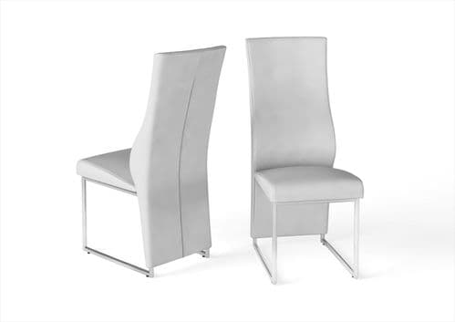 Imperial High Back White Leather Look Dining Chair