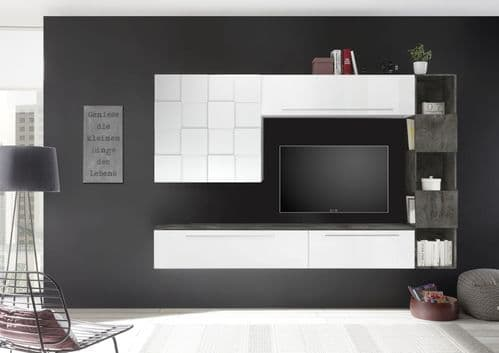 Infecety TV Unit Set Oxide Laminate Home Furniture