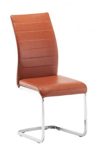 Jazz Burnt Orange Faux Leather Dining Chair