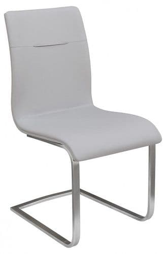 Judy Grey Leather Dining Chair