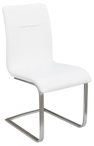 Judy White Leather Dining Chair