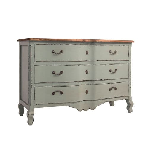 Kosh 135 Wide Sweet Green  Distressed Chest Of Drawers