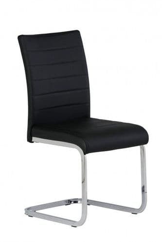 Lorence Black Faux Leather Dining Chair