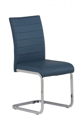 Lorence Blue Faux Leather Dining Chair