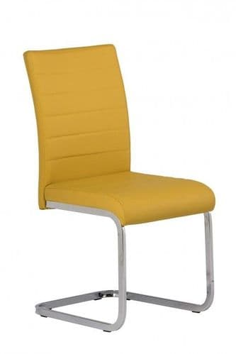 Lorence Yellow Faux Leather Dining Chair
