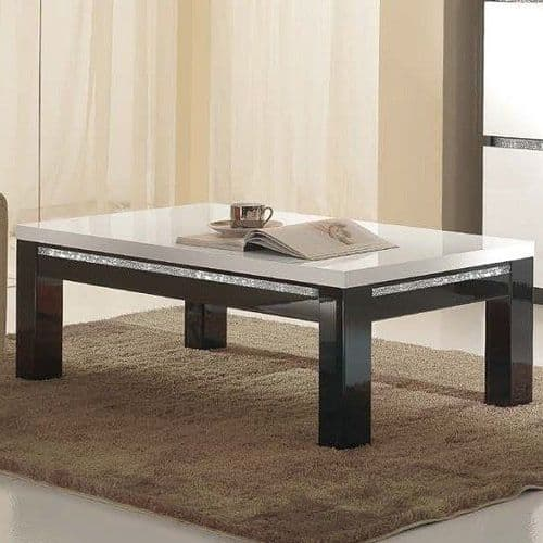 Lynette Coffee Table Black and White Home Furniture
