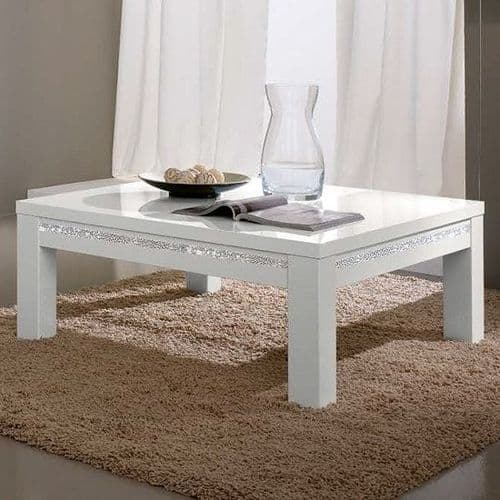 Lynette Coffee Table with Metal Details White Home Furniture