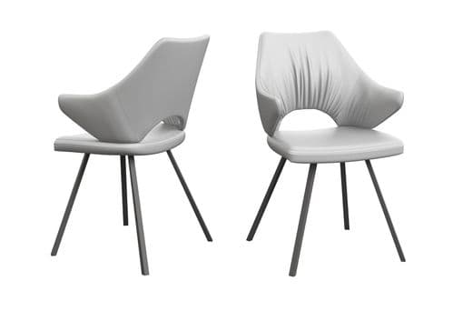 Marr White Leather Dining Chair
