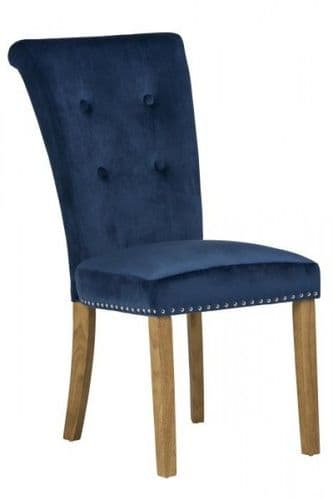 Matina Blue Velvet Dining Chair