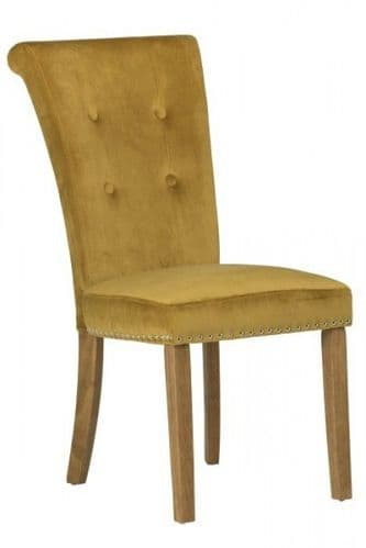 Matina Yellow Velvet Dining Chair