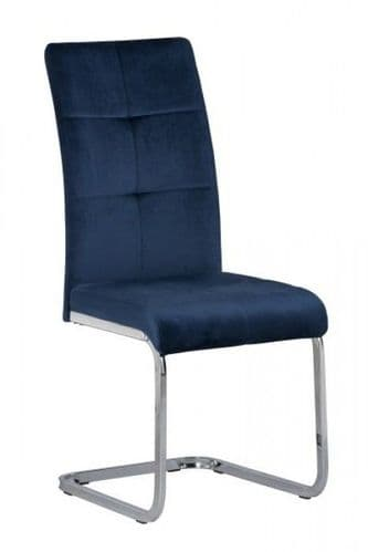 Menna Blue Velvet Dining Chair