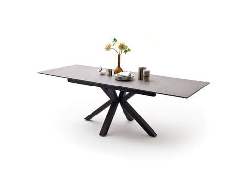 Mikano  160cm Grey Ceramic Extending Dining Table