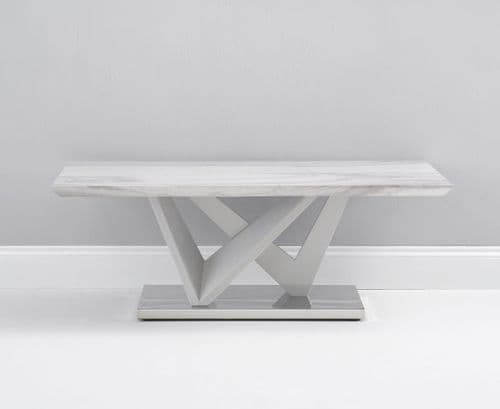 Misha 120cm Grey Gloss And Grey Marble Coffee Table