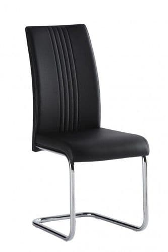 Mona Black Faux Leather Dining Chair