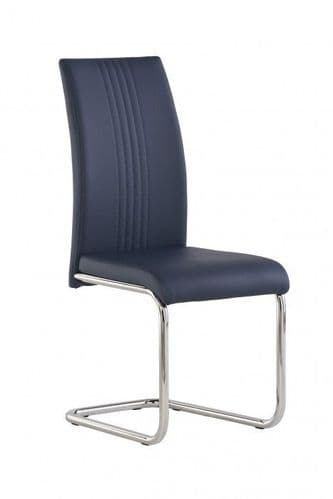 Mona Blue Faux Leather Dining Chair