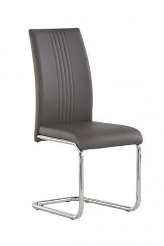 Mona Grey Faux Leather Dining Chair