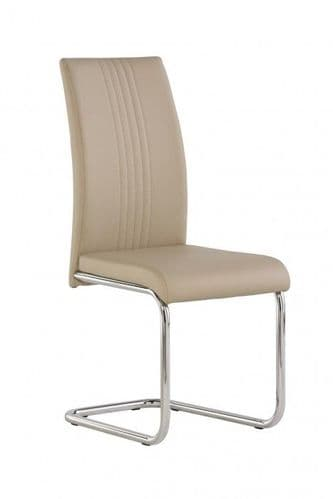 Mona Stone/Beige Faux Leather Dining Chair