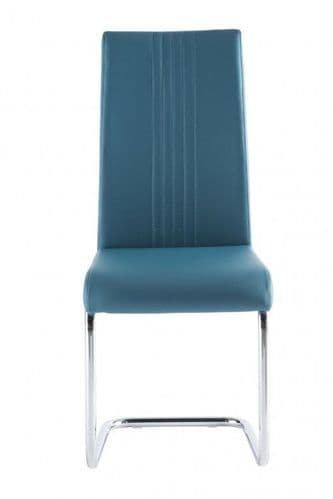 Mona Teal Faux Leather Dining Chair
