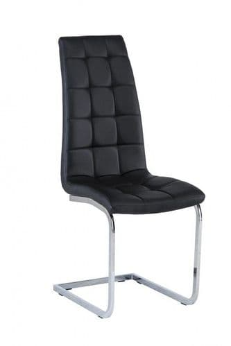 Morely Black Faux Leather Dining Chair