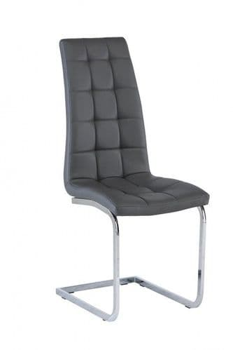 Morely Grey Faux Leather Dining Chair