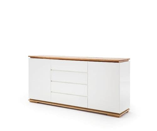 Nancy 172cm  White And Oak Sideboard