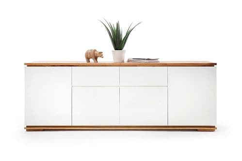 Nancy 182cm  White And Oak Sideboard