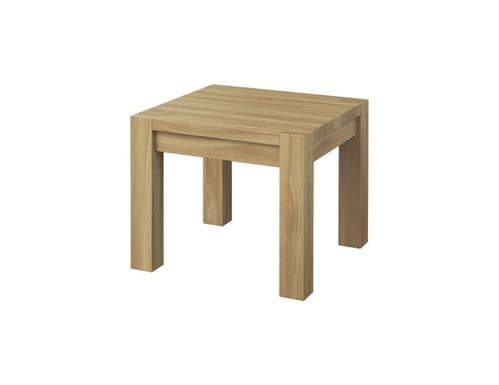 Nicholas Square Solid Oak Wooden Assembled Side Table